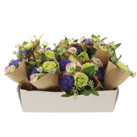 22cm Wrapped Flower Bundle