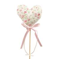 30cm Floral Fabric Heart Pick