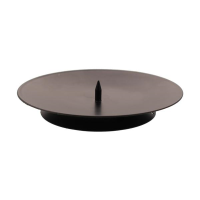 Metal candle plate with spike