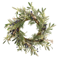 55cm Blueberry and Olive Leaf Wreath