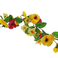 180cm Pansy & Narcissus Garland