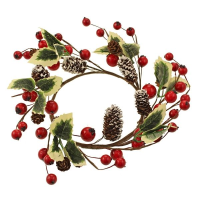 24cm Holly Berry Candle Ring