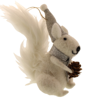 13cm Felt Hanging Squirrel