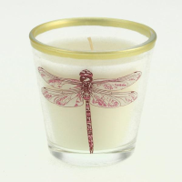 Botanical wax fill candle