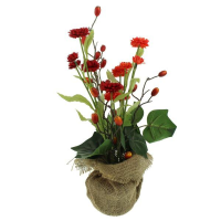 40cm Rose Hip in Burlap D?cor