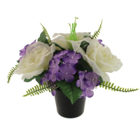 24cm Memorial Pot Arrangement