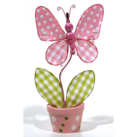 7 x 6cm Butterfly Card Holder