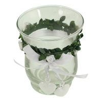 9cm Glass Candle Holder