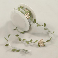 5m Floral Ribbon Garland