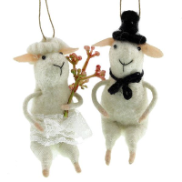 10.5cm Felt Wedding Lamb