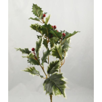 40cm Holly Spray with Berries