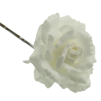 42cm Frosted Rose Stem