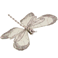 19cm Glittered Dragonfly Clip