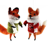 11cm Felt Fox Assorted