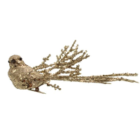 20cm Glittered Bird Clip