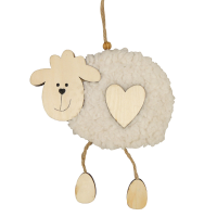 15cm Wooden Sheep