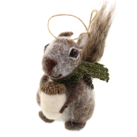 9cm Felt Hanging Squirrel